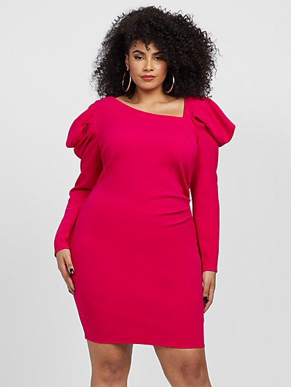 Plus Size Violetta Statement Shoulder Dress - Fashion To Figure