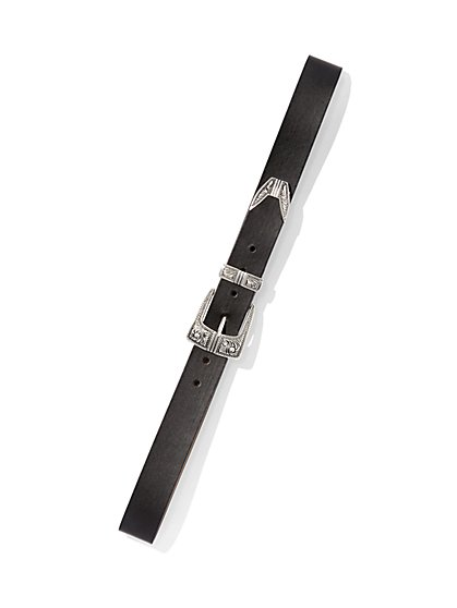 7f677413cb0f2 BLACK. New Arrival. Plus Size Western Buckle Belt - Fashion To Figure