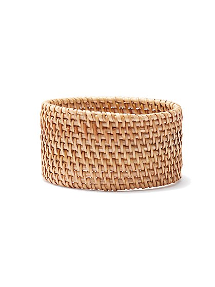 Plus Size Wicker Bangle Bracelet - Fashion To Figure