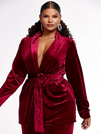 Plus Size Worth It! Velvet Jacket - SRV x FTF - Fashion To Figure