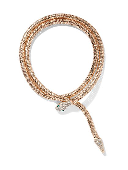 Plus Size Wrap Snake Necklace - Fashion To Figure