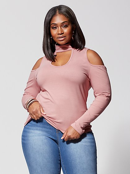 Plus Size Wren Cold-Shoulder Top - Fashion To Figure