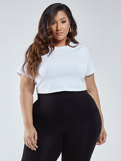 Plus Size Yvette Short Sleeve Crop Tee - Fashion To Figure