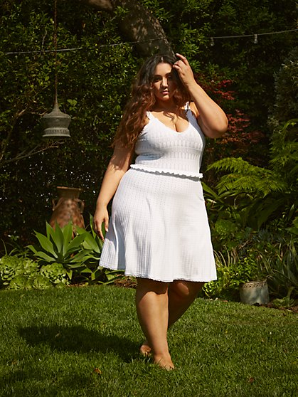 Plus Size Zoey Crochet Fit and Flare Dress - Fashion To Figure